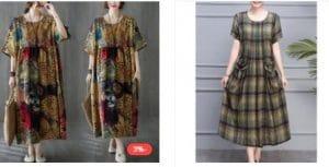 فستان قطن وكتان من فورديل